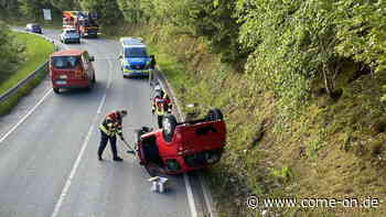 Plettenberg: Auto überschlägt sich bei Unfall - Fahrer hat Schutzengel - come-on.de