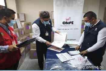 Segunda vuelta: verifican material electoral de ODP Sánchez Carrión y Pacasmayo - Agencia Andina