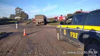 PRF atende acidente envolvendo ambulância em Cruz Alta - Rádio Studio 87.7 FM | Studio TV | Veranópolis