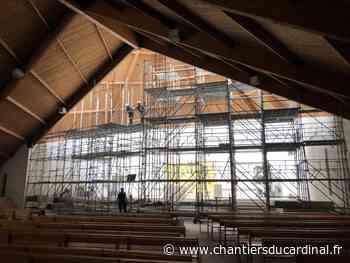 Eaubonne : des échafaudages pour réparer le toit de l'église - Les Chantiers du Cardinal
