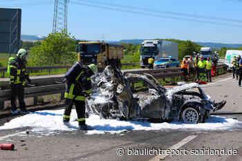 Zwei Schwerverletzte nach Horror-Crash nahe Saarwellingen - Blaulichtreport-Saarland