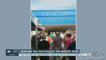 Moradores enfrentam aglomeração em vacinação contra Covid-19 em Monte Mor e prefeitura muda local - G1