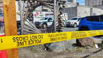 Downtown Yellowknife lot taped off over reported stabbing - Cabin Radio