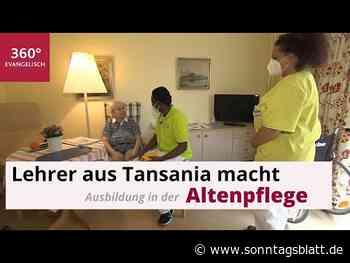 Vom Lehrer zum Altenpfleger: Tansanier macht Pflegeausbildung in Selb - Sonntagsblatt