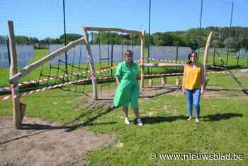 Kinderen kunnen voortaan ravotten op nieuwe speeltuin naast Sanderuszaal - Het Nieuwsblad