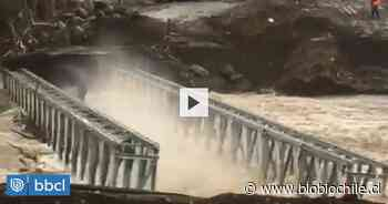 Crecida del río Itata se lleva puente en Yungay - BioBioChile