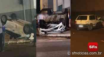 Carro capota após colisão em Itaperuna; três pessoas foram socorridas, sendo uma criança - SF Notícias