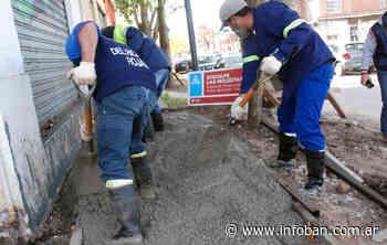 Tigre avanza con la construcción de veredas en Ricardo Rojas - InfoBan