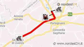 A4, veicolo in fiamme: uscita obbligatoria a Portogruaro - Nordest24.it