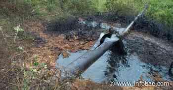 Explosión en oleoducto Caño Limón Coveñas generó un incendio en el área rural de Tibú, Norte de Santander - infobae
