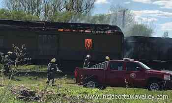 News VIDEO: Rail car catches fire at Smiths Falls' Railway Museum of Eastern Ontario - Ottawa Valley News