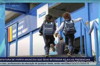 DIÁRIO NOTÍCIAS – Prefeitura de Itapevi anuncia retorno às aulas presenciais na rede municipal - WebDiario