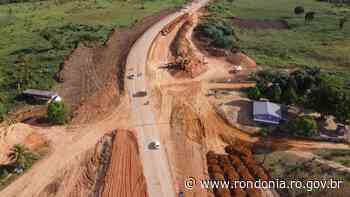 Em Ariquemes, obra de conclusão das cabeceiras da ponte sobre o rio Jamari segue em ritmo acelerado - Governo do Estado de Rondônia