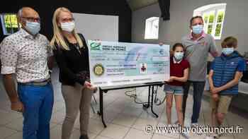 Le Rotary Club Cambrai Fénelon a remis un chèque de 2500€ à l'association Coeur2poumons - La Voix du Nord