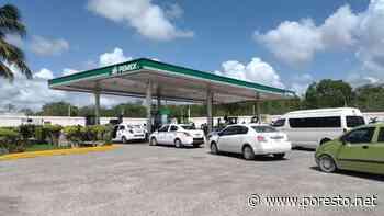 Desabasto de gasolina crea caos vial en carretera de Felipe Carrillo Puerto - PorEsto