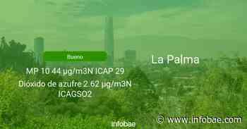 Calidad del aire en La Palma de hoy 2 de junio de 2021 - Condición del aire ICAP - infobae