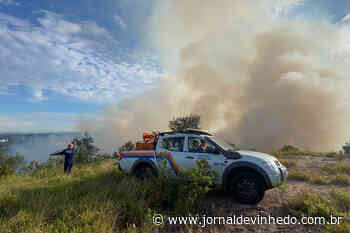 Incêndio atinge região da Fazenda Cachoeira em Vinhedo - Jornal de Vinhedo