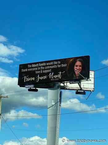 Giant billboards raised in memory of Trina Hunt of Port Moody - The Tri-City News