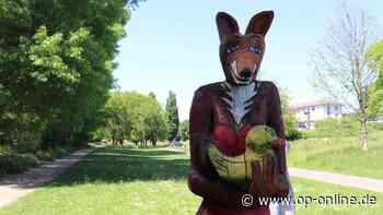 Nach Vandalismus: Skulptur am Dörnigheimer Mainufer hat wieder einen Kopf - op-online.de