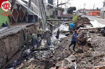 Colapsa puente en la colonia Álamos Vista Hermosa por lluvias (+fotos) - 24 Horas El Diario Sin Límites Puebla