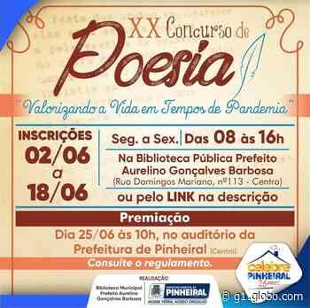 Abertas inscrições para 20ª edição do Concurso de Poesia de Pinheiral - G1