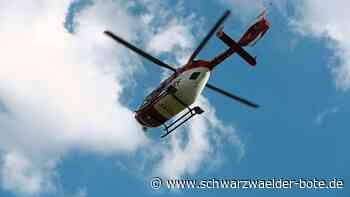 Unfall auf B 294 - Motorradfahrer bei Sturz nahe Simmersfeld schwer verletzt - Schwarzwälder Bote