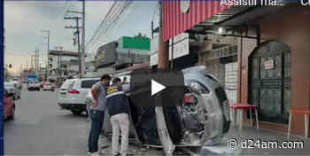 Idosa é atropelada na faixa de pedestres no bairro Cachoeirinha - D24AM
