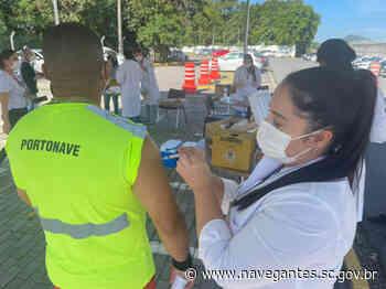 Covid-19: Navegantes inicia vacinação dos aeroportuários e portuários - Prefeitura de Navegantes