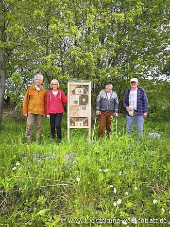 Die Artenvielfalt fördern: Erstes von zehn geplanten Insektenhotels in der Gemeinde Rosengarten errichtet - Rosengarten - Kreiszeitung Wochenblatt