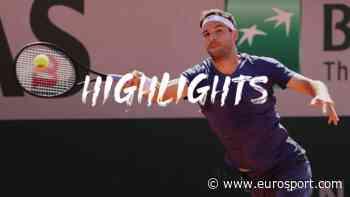 French Open 2021 tennis - Highlights: Grigor Dimitrov retires from opening match as Marcos Giron progresses - Eurosport.com
