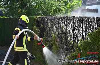 FW Altenberge: Heckenbrand durch Arbeiten mit Gasbrenner - Presseportal.de