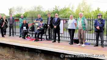 Millbrook station welcomes memorial bench for Captain Sir Tom Moore - RailAdvent - Railway News