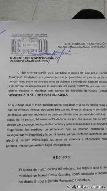Denuncia candidata ante la Fiscalía a alcaldesa con licencia de Casas Grandes por violencia y actos de intimidación hacia ella y su familia - El puntero
