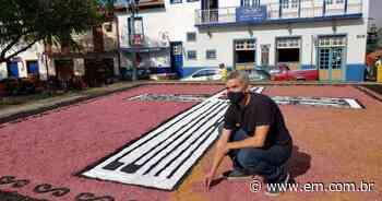 Tapetes de Corpus Christi em Sabará foram feitos com casca da jabuticaba - Estado de Minas