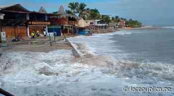 Piura: fuerte oleaje impide el ingreso del público a playas de Máncora - LaRepública.pe