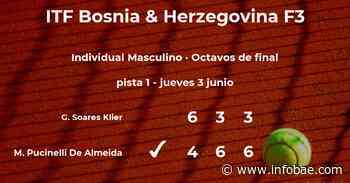 Matheus Pucinelli De Almeida se clasifica para los cuartos de final del torneo de Sarajevo - infobae