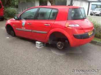 Cagnes-sur-Mer : une des voitures des pompiers posée sur les jantes - La Pause Info