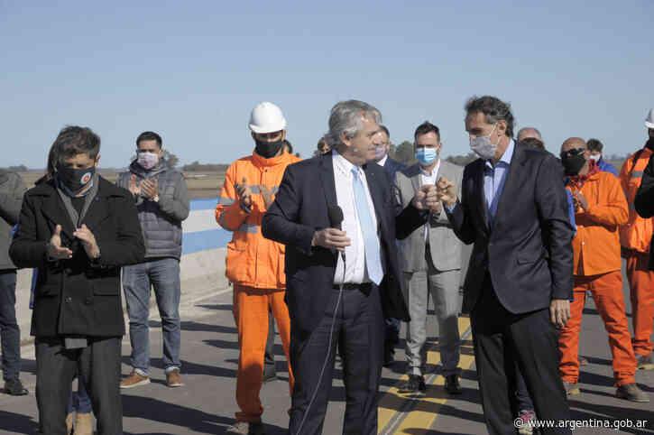 Alberto Fernández, Katopodis y Kicillof inauguraron el tramo Chacabuco - Junín de la Autopista Ruta Nacional 7 - Argentina.gob.ar Presidencia de la Nación