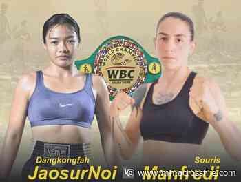 It's Souris Manfredi vs. Dangkongfah Jaosurnoi III for WBC women's super flyweight Muay Thai title – MMA Crossfire - MMA Crossfire