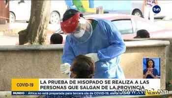 Continúan pruebas de hisopados en el parque Cervantes en Chiriquí - TVN Noticias