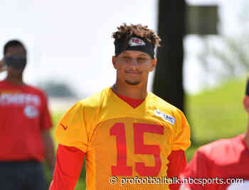 Patrick Mahomes: Part of why we came to OTAs was to experiment