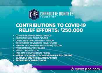 Charlotte Hornets Foundation Reveals Final Donations For COVID-19 Relief