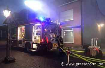 FW Kranenburg: Brand einer Doppelgarage im Ortskern - Presseportal.de