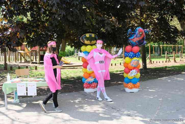 Geen schoolfeest, maar wel allemaal superhelden op tocht