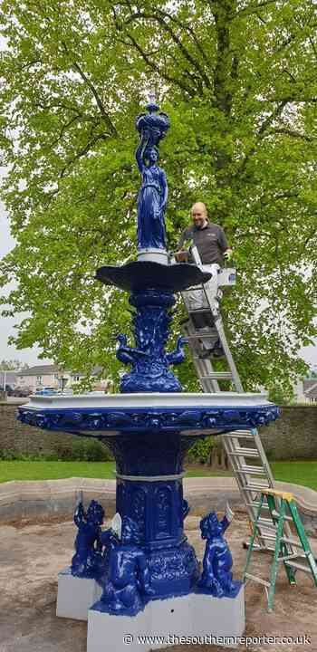 Selkirk fountain is now true blue - The Southern Reporter