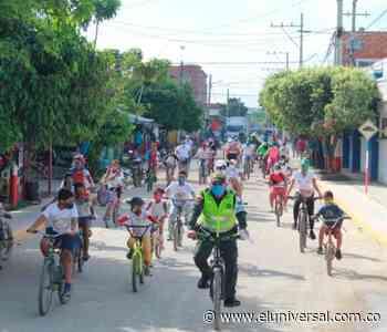 En Río Viejo: Policía de Bolívar conmemoró el Día Mundial de la Bicicleta - El Universal - Colombia