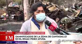 Cantagallo: mujer rompe en llanto al perder todo su dinero en incendio - El Comercio Perú