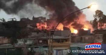 Rímac | Incendio de grandes proporciones se registra en zona de Cantagallo - exitosanoticias