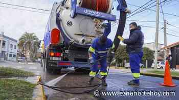 Continúa la limpieza de sumideros en Villa Martelli - zonanortehoy.com