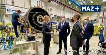 Brandenburgs Ministerpräsident Woidke bei Rolls-Royce in Dahlewitz: Optimismus nach dem Corona-Lockdown - Märkische Allgemeine Zeitung